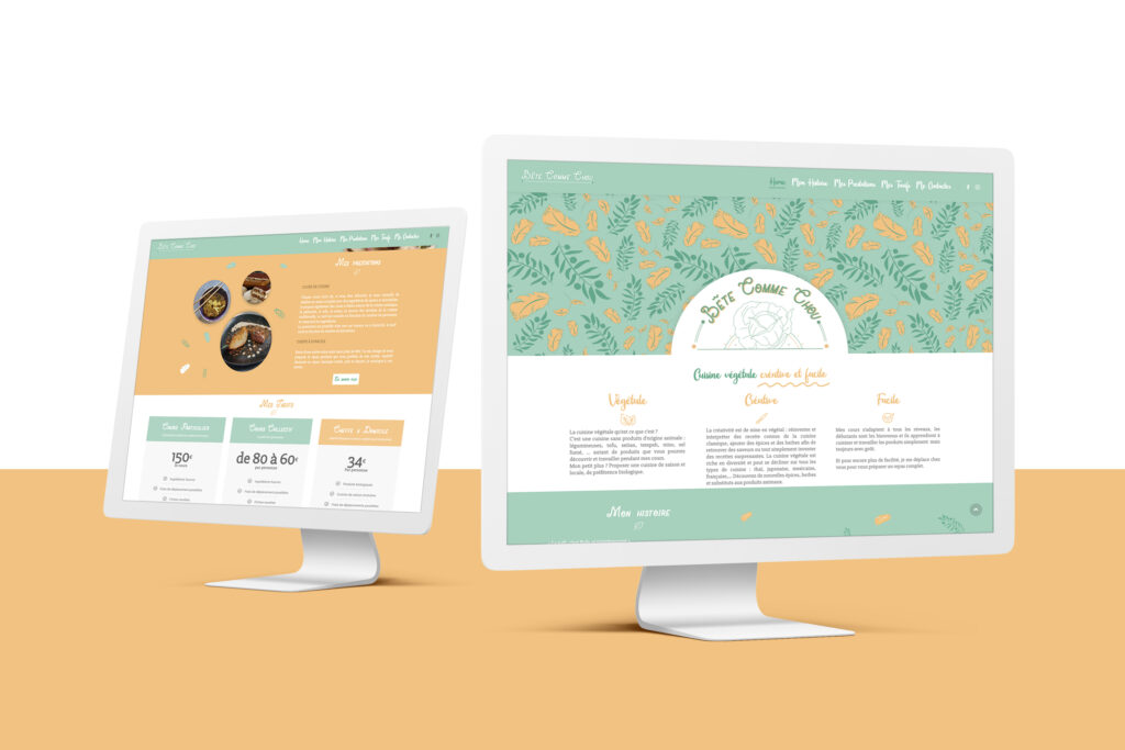 Webdesign du site Bête comme chou